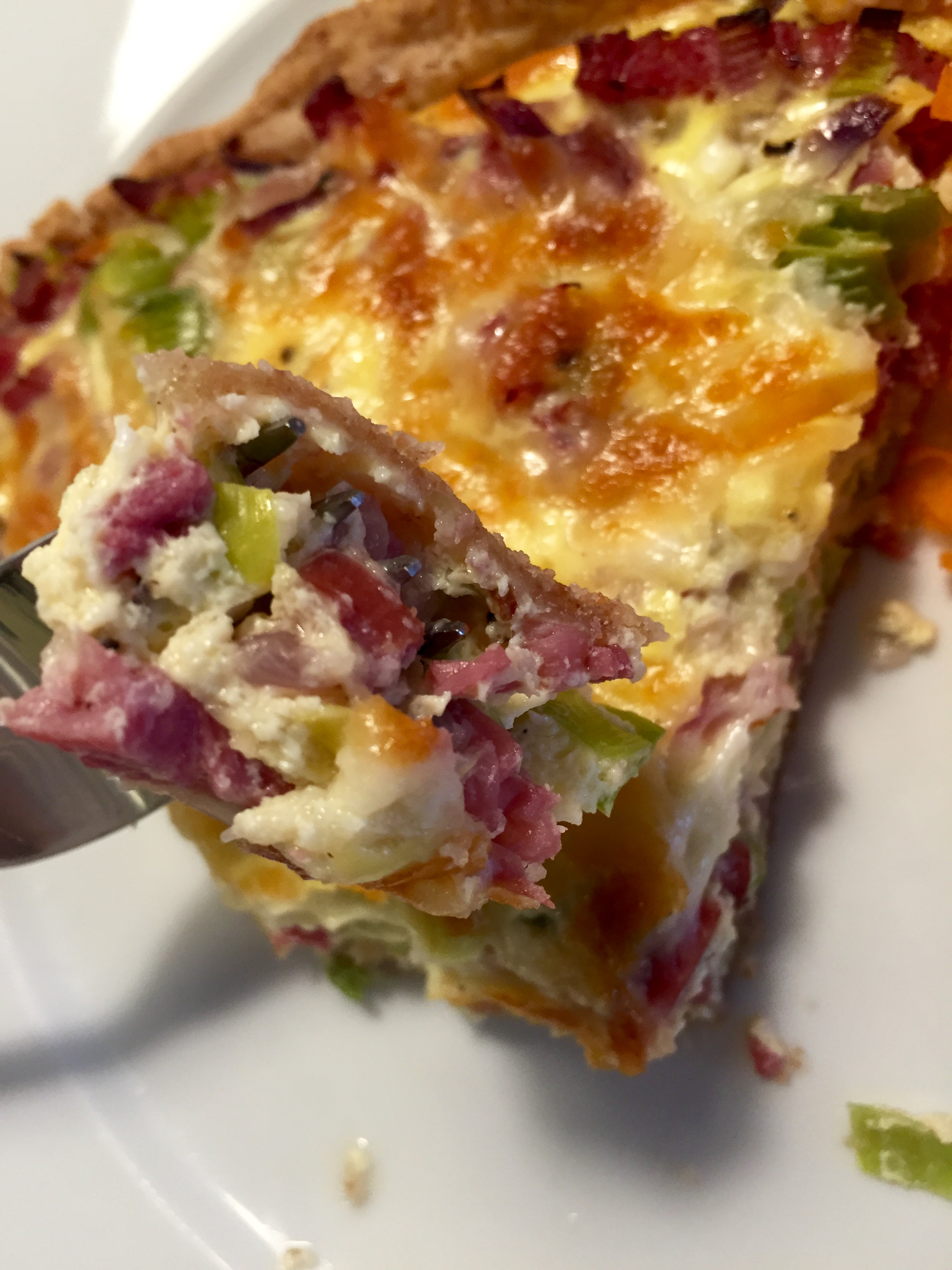 Turkey Bacon and Leek Pie