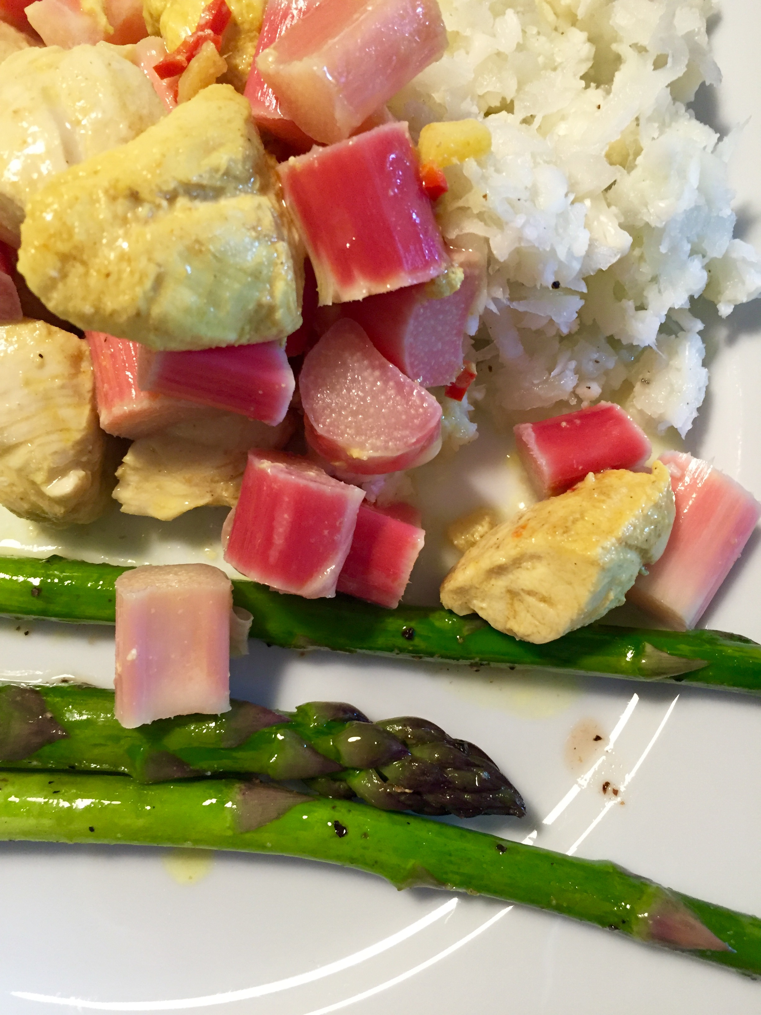 Rhubarb Coconut Chicken