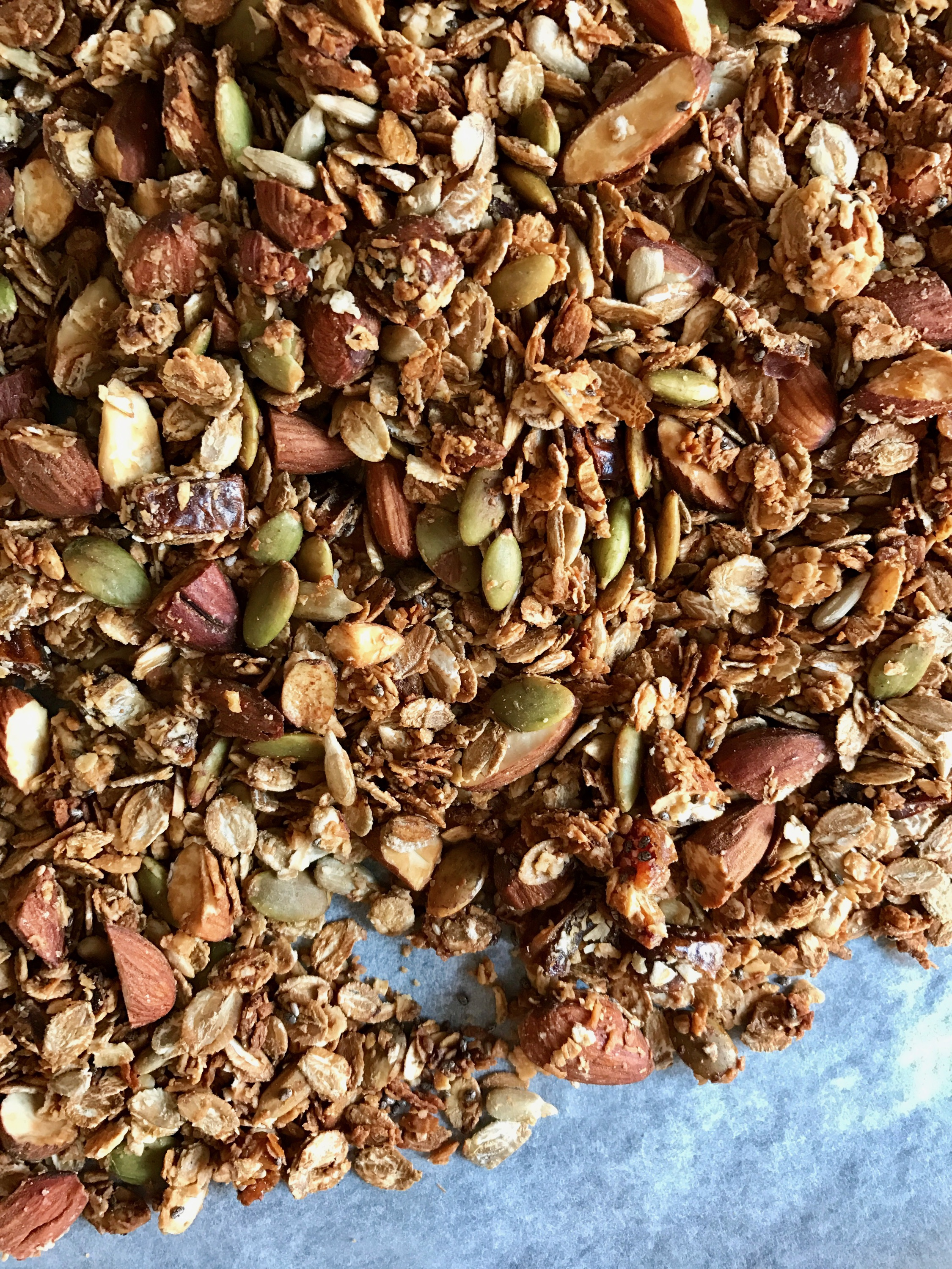 Nutty Oven Roasted Granola