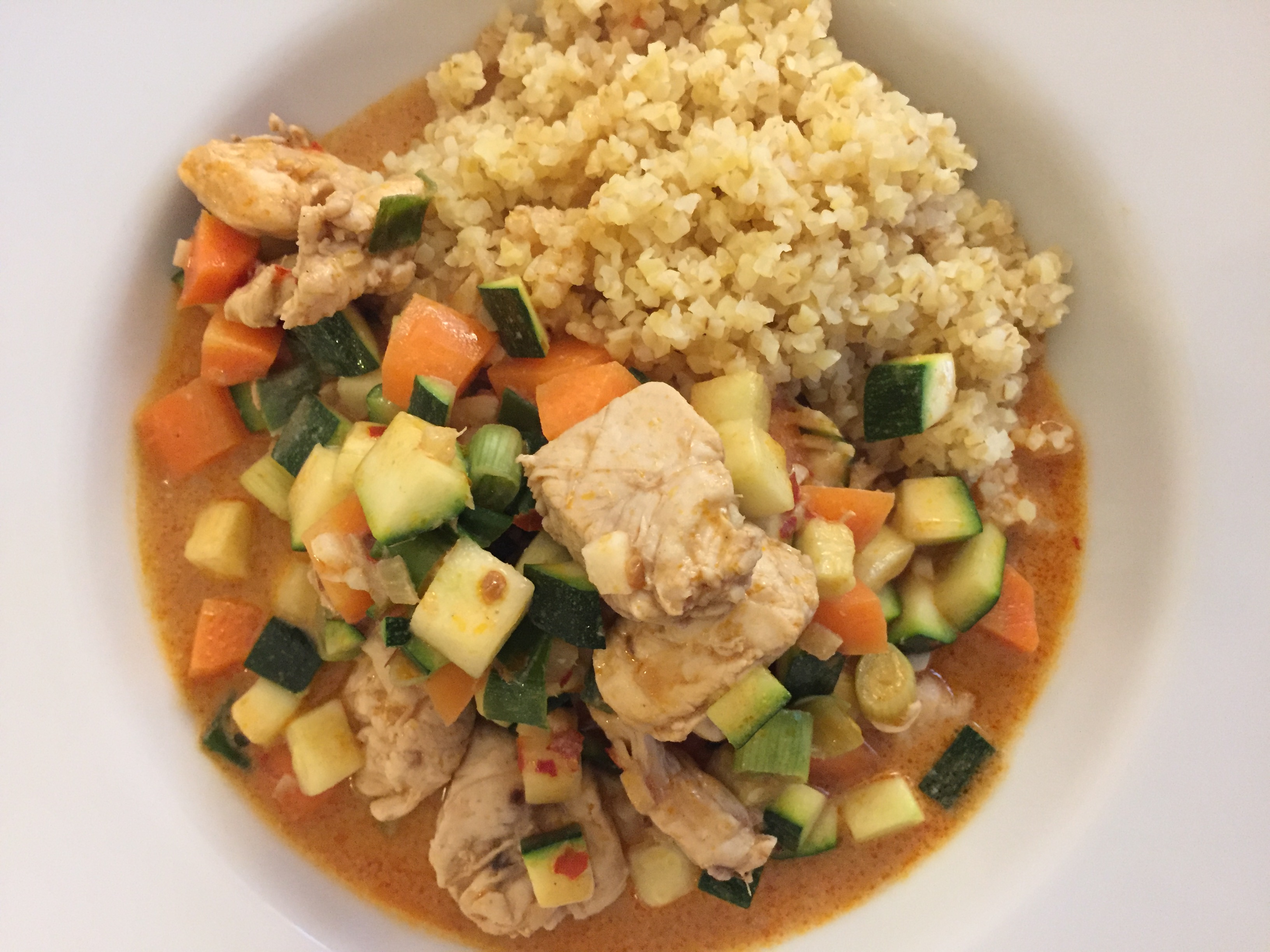 Thai Chicken with Red Curry and Veggies