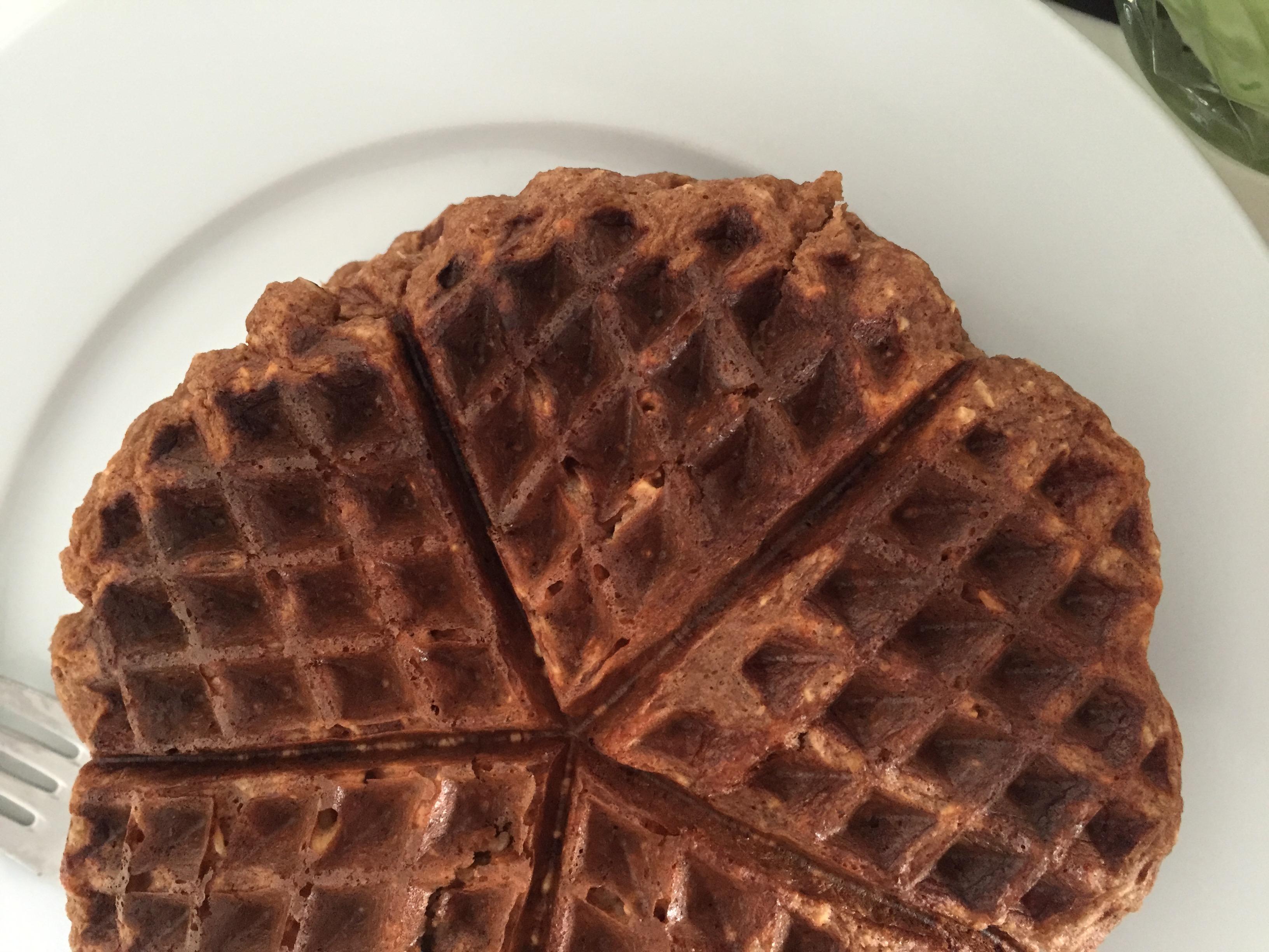 Chocolate Banana Brunch Waffles