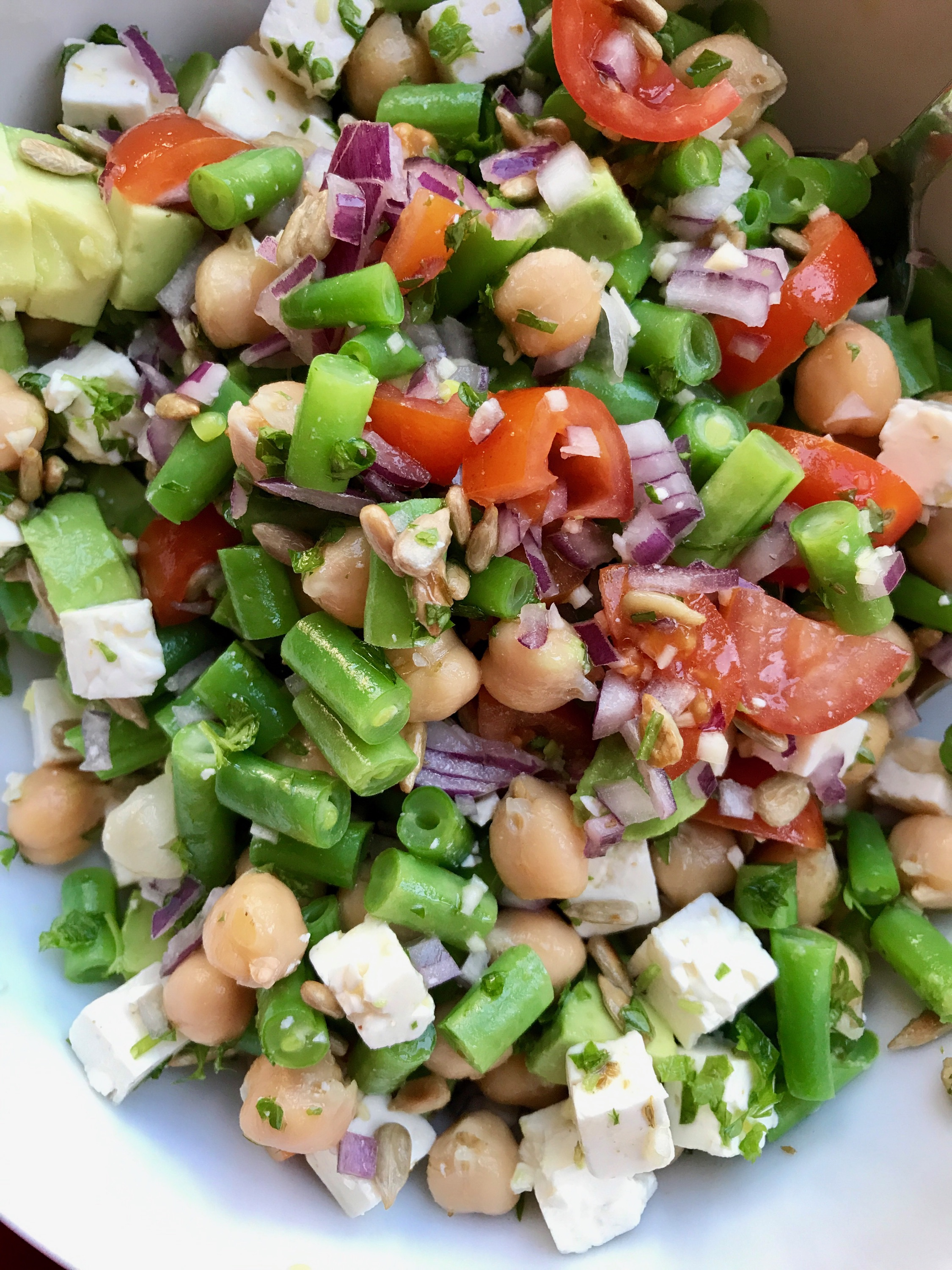 Salad with Green Beans and Chickpeas